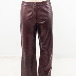 VTG 90s Genny Prada M Leather Pants Red Purple